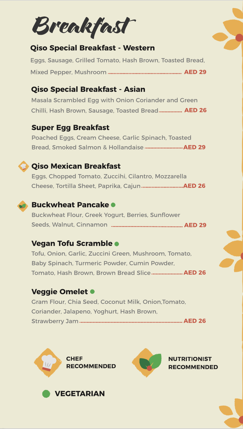 Qiso Cafe | Healthy and Best Cafe in Dubai Silicon Oasis