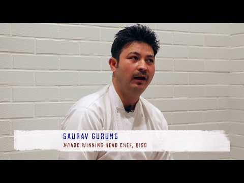 Award winning Chef Saurav , Head Chef at Qiso Cafe